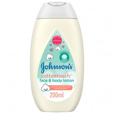 Johnson's Cotton touch Face & Body Lotion 200ml