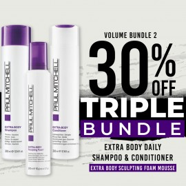 30 % off Extra Body Daily Shampoo Extra Body Daily Conditioner and Extra Body Sculpting Foam (Mousse)