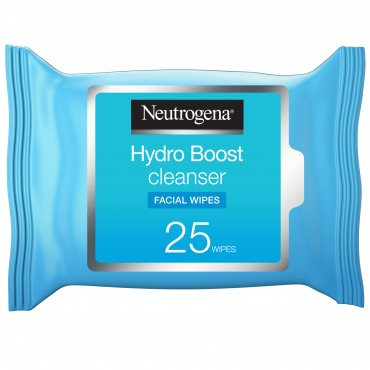 Neutrogena Makeup Remover Face Wipes, Hydro Boost Cleansing, Pack of 25 wipes