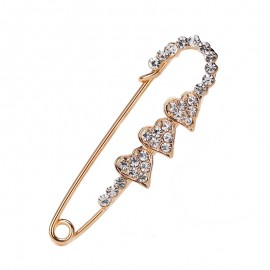Vegas Danbihuabi 18 Style Crystal Female Gold Color Pins