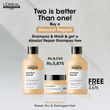 Absolute Repair Two Shampoos are Better Than One
