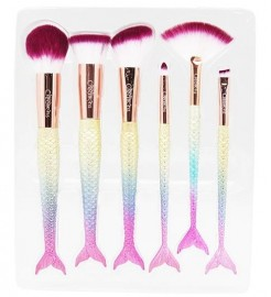 Beauty Creations 6 PC Brush Set Mermaid Dream - Fish Tail