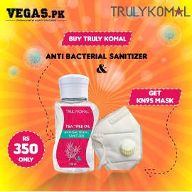 Buy Truly Komal Anti - Bacteria Hand Sanitizer 50ml and Get Free KN95 Protective Mask