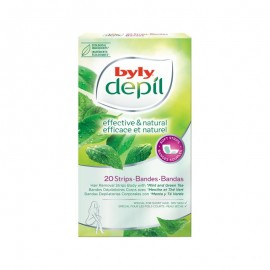 Byly Depil Mint And Green Tea Hair Removal Body Strips 20pc