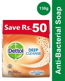 Dettol Soap 130 gm Deep cleanse Buy 4 soaps save Rs 50