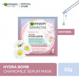 Garnier Skin Active Hydra Bomb Chamomile Tissue Face Mask Hydrating and Soothing 28g