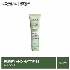 L'Oreal Paris Pure Clay Purify and Mattify Cleanser Green 150 ml