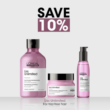 L'Oreal Professionnel Liss Unlimited 10% Off Bundle For Smooth & Frizz-free Hair