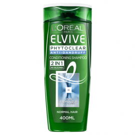 L'oreal Shampoo Elvive Phytoclear 2in1 400ml