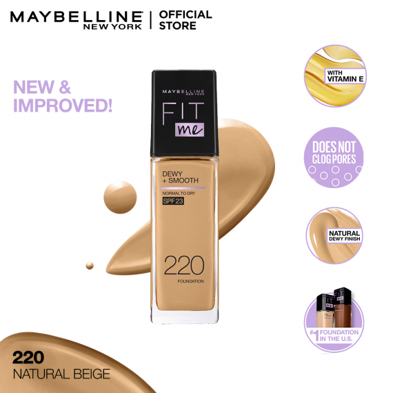 Maybelline New York Fit Me Dewy & Smooth Liquid Foundation