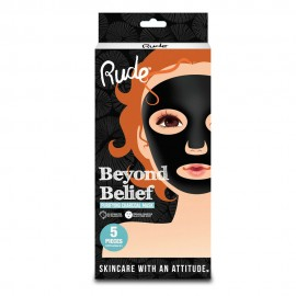 RUDE Beyond Belief Purifying Charcoal Mask 5 Piece Pack