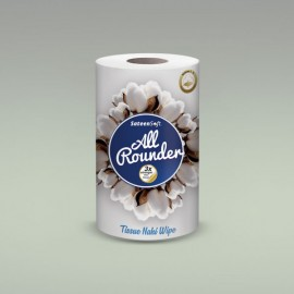 Sateen Soft Cotton Wipes Roll Large (All Rounder)