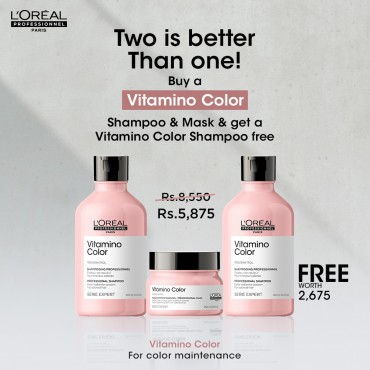 Vitamino Two Shampoos are Better Than One